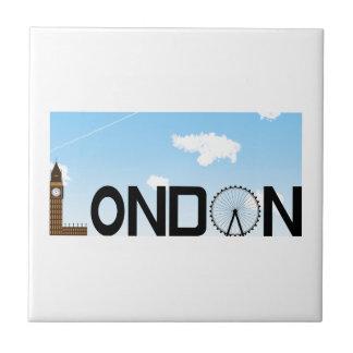 London Skyline Daytime Tile