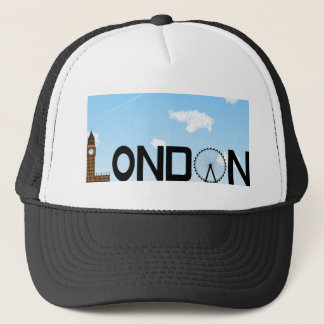 London Skyline Daytime Trucker Hat