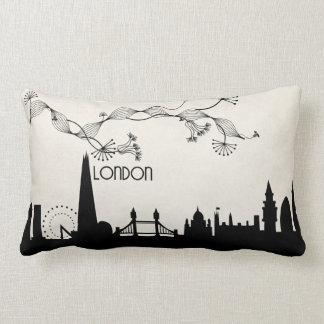 london skyline deco lumbar pillow