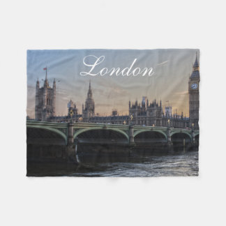 London Skyline Fleece Blanket