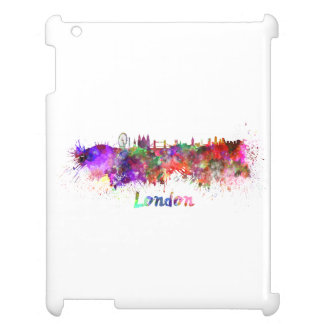 London skyline in watercolor iPad covers