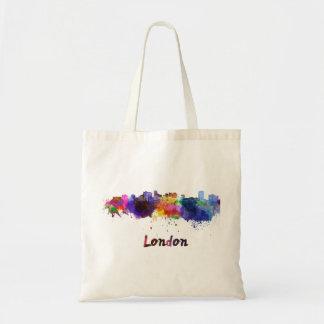 London skyline in watercolor tote bag