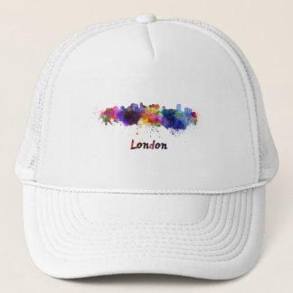 London skyline in watercolor trucker hat