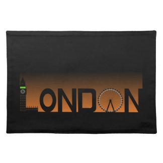 London skyline placemat