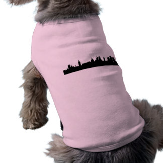 London skyline silhouette cityscape dog t shirt