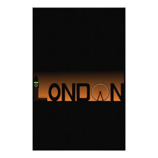 London skyline stationery