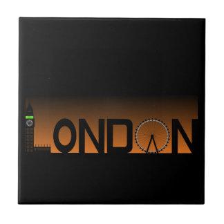 London skyline tile