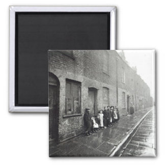 London Slums, c.1900 Square Magnet