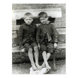 London Slums, The Boys Postcard