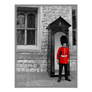 London Soldier on Parade poster