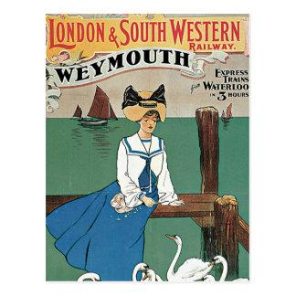 London & Southwestern ~ Weymouth Postcard