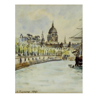 London, St. Paul's Cathedral by Camille Pissarro Postcard