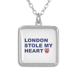 London Stole My Heart Silver Plated Necklace