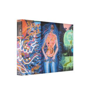London Street Art Stretched Canvas Print