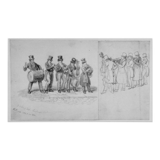 London Street Musicians, c.1820-30 Poster