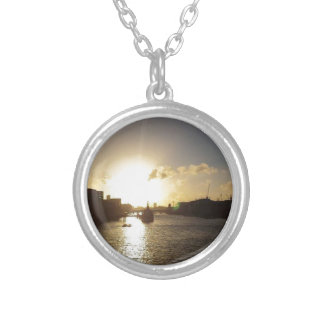 London Sunset Silver Plated Necklace