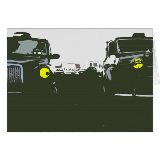 London Taxi Greetings Card