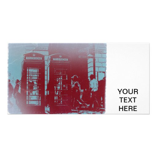 London Telephone Booth Personalized Photo Card