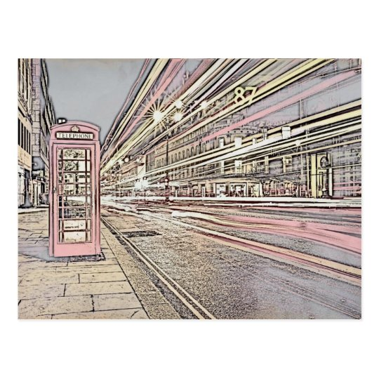 London Telephone Booth Postcard