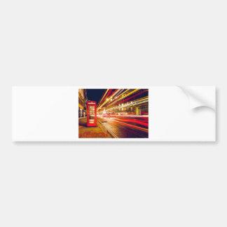 London Telephone Box at Night with Street Light Bumper Sticker