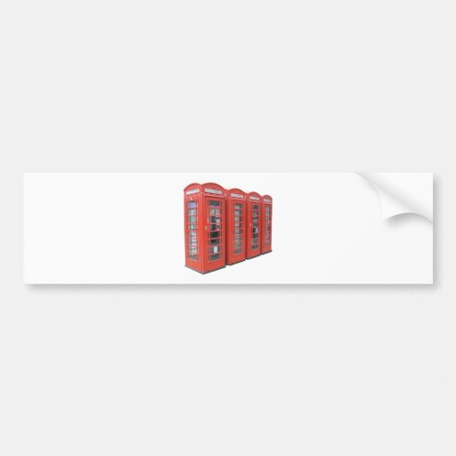 London telephone box bumper stickers