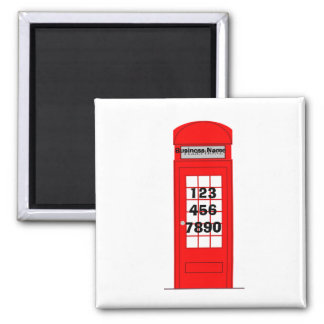 London Telephone Box Business Promotion Magnet