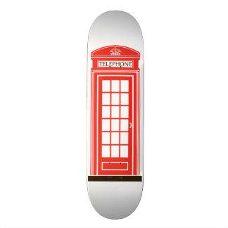 London telephone box custom skateboard