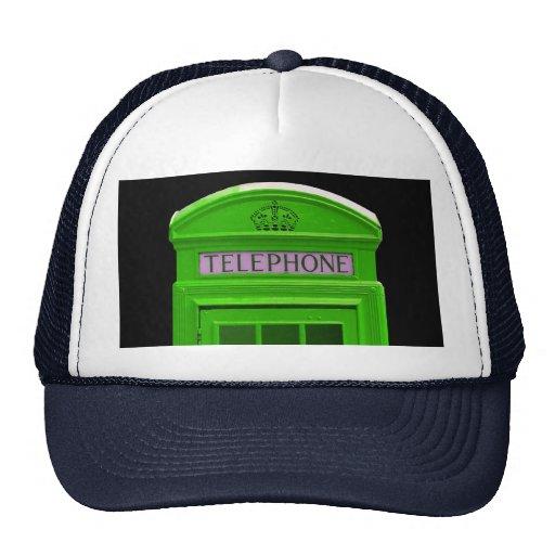 London telephone box England Trucker Hats