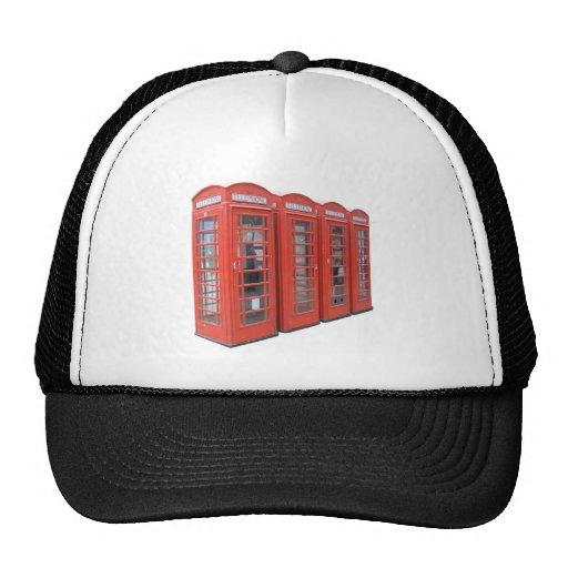 London telephone box hat