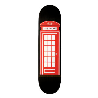 London telephone box skate board deck