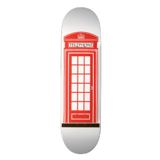 London telephone box custom skate board