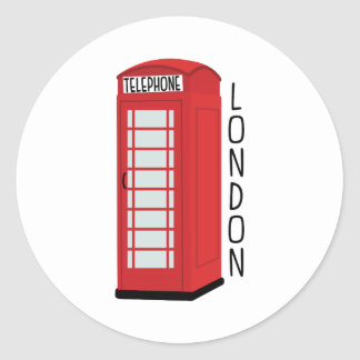 London Telephone Classic Round Sticker
