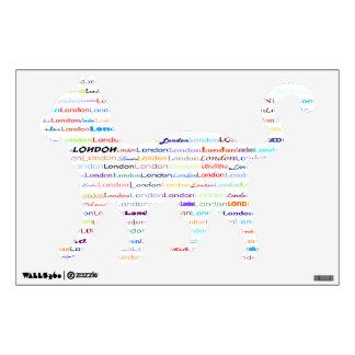 London Text Design II Wall Decal Cat Walking
