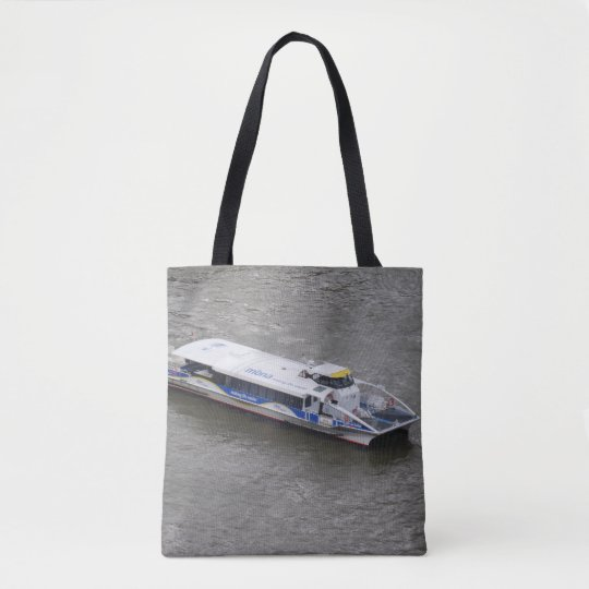 London Thames Cruise Boat Tote Bag