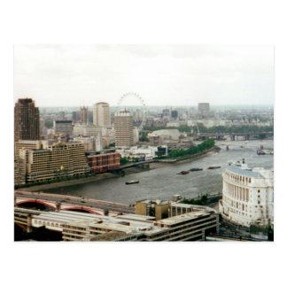 London, Thames River Landscape Postcard