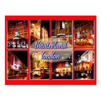 London theatres postcard