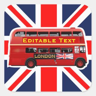 London Themed Square Sticker