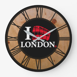 London Time Double Decker Bus Edition Large Clock