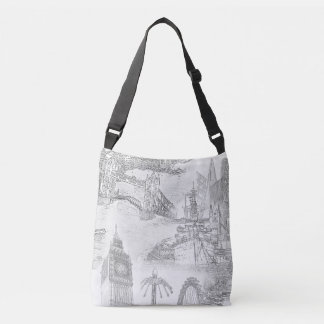 London Tote Bag - London Icons Line Drawings