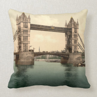 London Tower Bridge Open/closed Throw Pillow