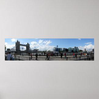 London Tower Bridge Panoramic Poster