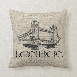 London Tower Bridge Pillow