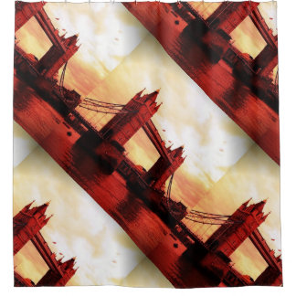 london tower bridge red