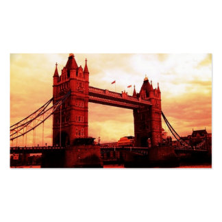 london tower bridge red business card template