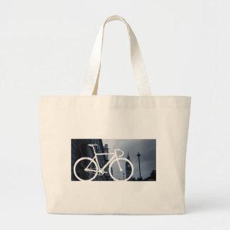 London Track Bicycle Large Tote Bag