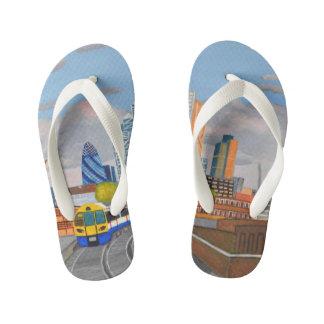 London Train Custom Flip Flops, Kids Kid's Flip Flops