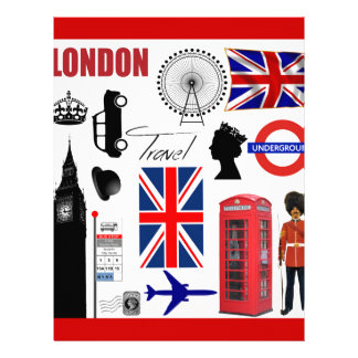 London Travel Collage Personalized Letterhead