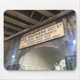 London UK Borough Market Potato Merchant Photo Mouse Pad