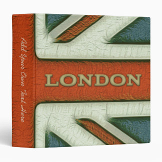 "London UK Flag 1.5"" Binder"
