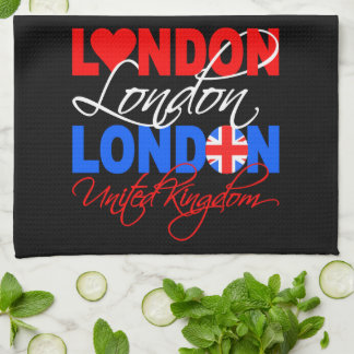 London UK hand towel